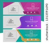 set of banner template with...   Shutterstock .eps vector #1313591690