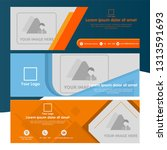 set of banner template with...   Shutterstock .eps vector #1313591693