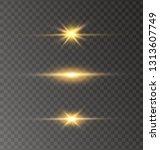 white glowing light explodes on ... | Shutterstock .eps vector #1313607749