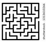 trap maze line icon design  | Shutterstock .eps vector #1313610266