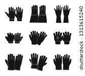 isolated object of glove and...   Shutterstock .eps vector #1313615240