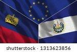lichtenstein and el salvador 3d ...   Shutterstock . vector #1313623856