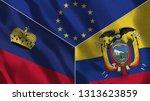 lichtenstein and ecuador 3d...   Shutterstock . vector #1313623859