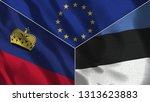 lichtenstein and estonia 3d...   Shutterstock . vector #1313623883