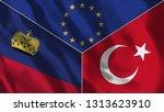lichtenstein and turkey 3d...   Shutterstock . vector #1313623910