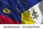 lichtenstein and vatican 3d...   Shutterstock . vector #1313623916