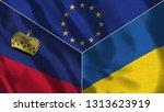 lichtenstein and ukraine 3d...   Shutterstock . vector #1313623919