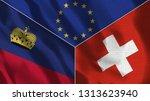 lichtenstein and switzerland 3d ...   Shutterstock . vector #1313623940