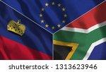 lichtenstein and south africa...   Shutterstock . vector #1313623946