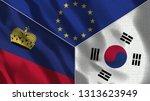lichtenstein and south korea 3d ...   Shutterstock . vector #1313623949