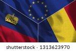 lichtenstein and romania 3d...   Shutterstock . vector #1313623970