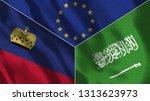 lichtenstein and saudi arabia...   Shutterstock . vector #1313623973