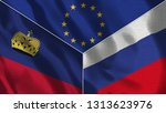 lichtenstein and russia 3d...   Shutterstock . vector #1313623976