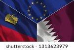 lichtenstein and qatar 3d...   Shutterstock . vector #1313623979
