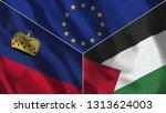 lichtenstein and palestine 3d...   Shutterstock . vector #1313624003