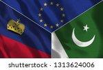 lichtenstein and pakistan 3d...   Shutterstock . vector #1313624006