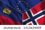 lichtenstein and norway 3d...   Shutterstock . vector #1313624009