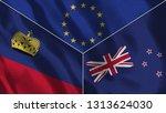 lichtenstein and new zealand 3d ...   Shutterstock . vector #1313624030