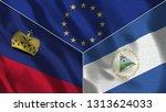 lichtenstein and nicaragua 3d...   Shutterstock . vector #1313624033