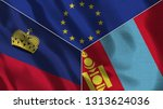 lichtenstein and mongolia 3d...   Shutterstock . vector #1313624036