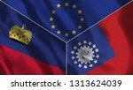 lichtenstein and myanmar burma...   Shutterstock . vector #1313624039