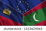 lichtenstein and maldives 3d...   Shutterstock . vector #1313624063