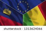 lichtenstein and mali 3d...   Shutterstock . vector #1313624066