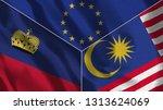lichtenstein and malaysia 3d...   Shutterstock . vector #1313624069