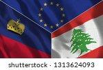 lichtenstein and lebanon 3d...   Shutterstock . vector #1313624093