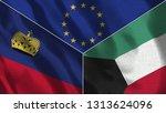 lichtenstein and kuwait 3d...   Shutterstock . vector #1313624096