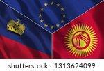 lichtenstein and kyrgyzstan 3d...   Shutterstock . vector #1313624099