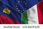 lichtenstein and italy 3d...   Shutterstock . vector #1313624120
