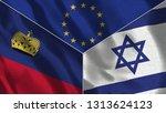 lichtenstein and israel 3d...   Shutterstock . vector #1313624123