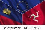 lichtenstein and isle of man 3d ...   Shutterstock . vector #1313624126