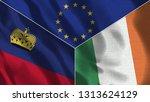 lichtenstein and ireland 3d...   Shutterstock . vector #1313624129