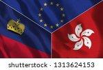 lichtenstein and hong kong 3d...   Shutterstock . vector #1313624153