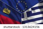 lichtenstein and greece 3d...   Shutterstock . vector #1313624156