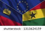 lichtenstein and ghana 3d...   Shutterstock . vector #1313624159