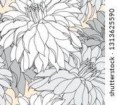 beautiful seamless floral...   Shutterstock .eps vector #1313625590