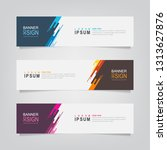 vector abstract banner design... | Shutterstock .eps vector #1313627876