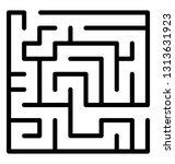 trap maze line icon design  | Shutterstock .eps vector #1313631923