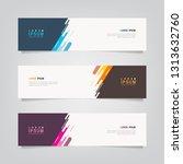 vector abstract banner design... | Shutterstock .eps vector #1313632760