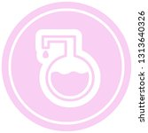 science experiment circular...   Shutterstock .eps vector #1313640326