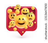 high detailed emoticons in a...   Shutterstock .eps vector #1313647850