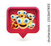 high detailed emoticons in a...   Shutterstock .eps vector #1313647853
