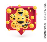 high detailed emoticons in a...   Shutterstock .eps vector #1313647856