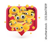 high detailed emoticons in a...   Shutterstock .eps vector #1313647859