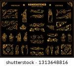 vector vintage corners ... | Shutterstock .eps vector #1313648816