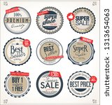 retro vintage badges and labels ... | Shutterstock .eps vector #1313654063