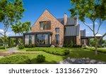 3d rendering of modern cozy... | Shutterstock . vector #1313667290